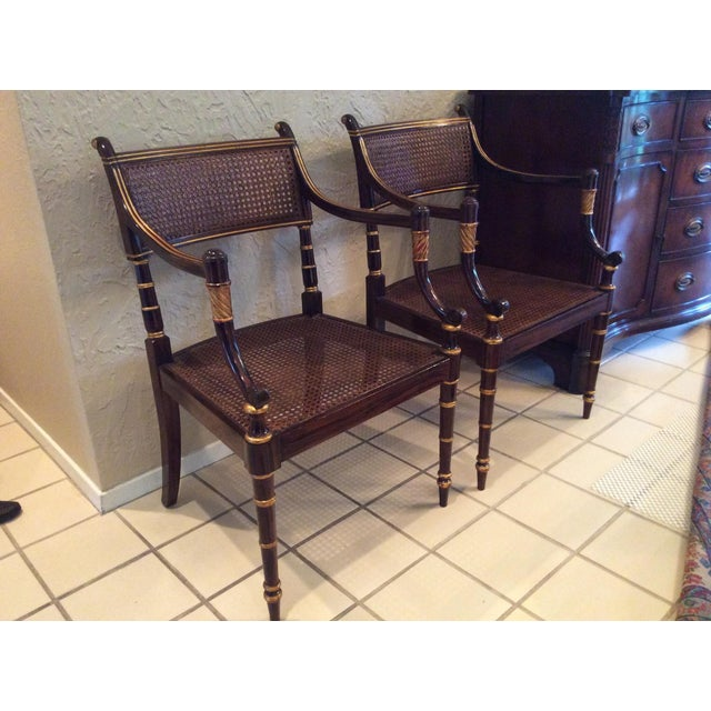 Vintage Baker Regency Accent Chairs - A Pair - Image 4 of 7