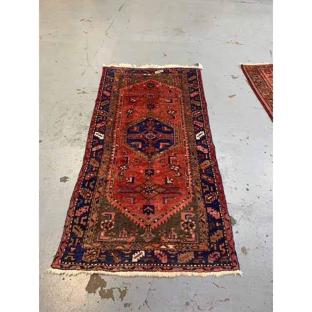 6'8 x 3'4 vintage Hamadan rug Condition: All rugs have been professionally cleaned and ready to use at the time of...