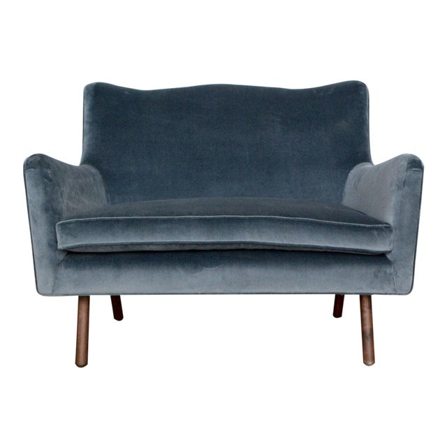 Modern Charcoal Gig Loveseat For Sale