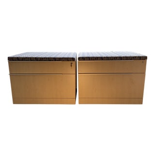 Steelcase Filing Cabinets With Seating For Sale