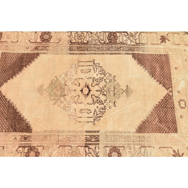Vintage Turkish Oushak Wool Rug - 2′11″ × 4′7″ For Sale - Image 5 of 6
