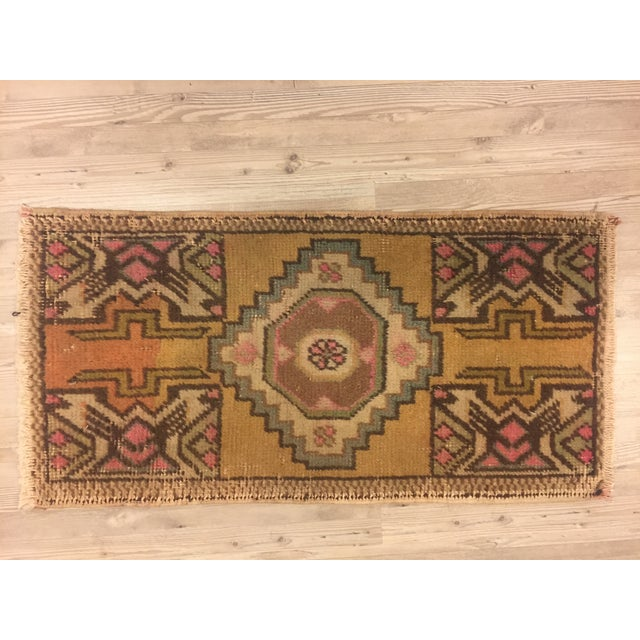 "Turkish Bohemian Rug - 1'5"" x 2'11"" For Sale In Austin - Image 6 of 6"