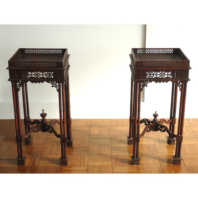 Vintage Southeast Asian Side Tables - A Pair - Image 2 of 10