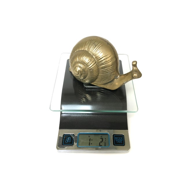 Vintage Brass Snail Figurine For Sale - Image 6 of 7