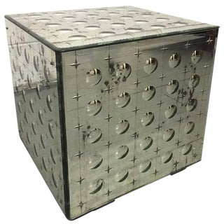 Italian Style Bubbled Mirrored Table For Sale