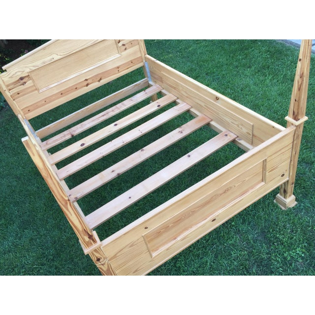 Tan 1990s Vintage Custom-Built Natural Pine Queen Bed For Sale - Image 8 of 10