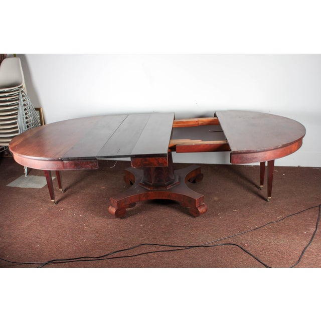 Antique Royal Furniture Co. Regency Mahogany Expandable Dining Table - Image 6 of 10