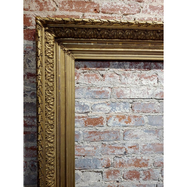19th Century Large Ornate Carved Gilt Wood Frame - C1860s For Sale In Los Angeles - Image 6 of 8