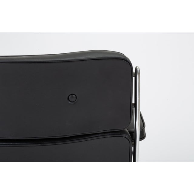 Black Leather Time Life Lobby Chair by Ray and Charles Eames for Herman Miller For Sale - Image 12 of 13