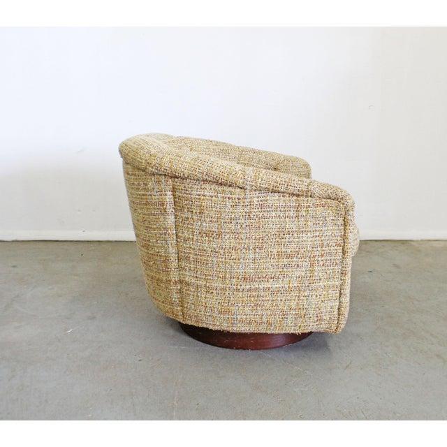 Mid 20th Century Mid-Century Modern Milo Baughman Thayer Coggin Swivel Rocker Lounge Chair For Sale - Image 5 of 13