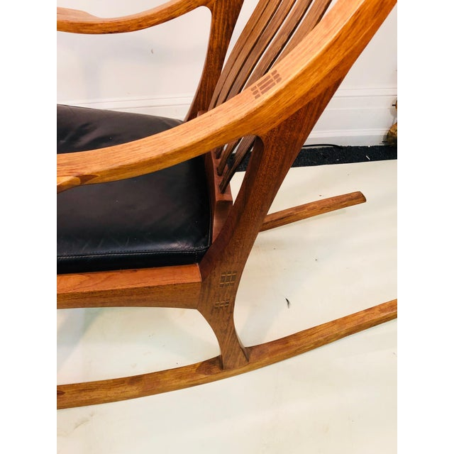 Exceptional and Monumental Rosewood Rocking Chair by Stephen O'Donnell For Sale In Philadelphia - Image 6 of 11