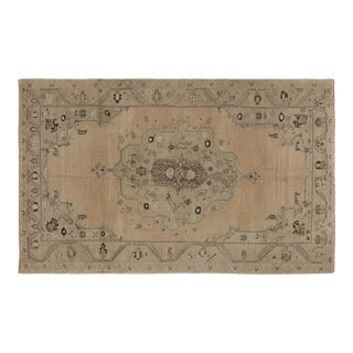 1960s Heritage Oushak Beige Area Rug-5'7'' X 9'0'' For Sale