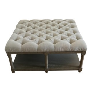 Lorraine Square Upholstered Cocktail Table For Sale