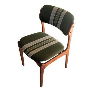 Mid-Century Modern Danish Erik Buch Teak Dining Chair For Sale