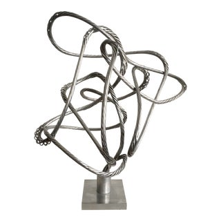 Abstract Aluminum Wire Sculpture For Sale