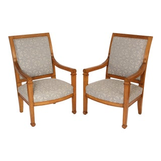 Louis Philippe Armchairs - A Pair For Sale