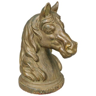 French Cast Iron Horse Head Hitching Post For Sale