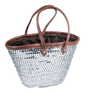 Medina Moroccan Woven Basket For Sale