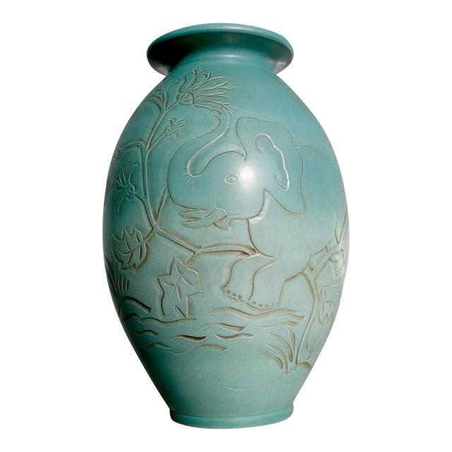 Folmer Gross for Knabstrup Danish Modern Ceramic Vase For Sale