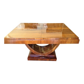 1920s Art Deco Dining Table For Sale