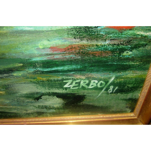 Late 20th Century Valerio Zerbo San Marco Piazza Large Oil Painting For Sale - Image 4 of 12