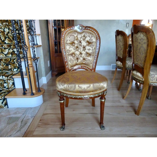 Art Deco Extra Large Italian Baroque Style Solid Wood Dining Set - 9 Pieces For Sale - Image 3 of 12
