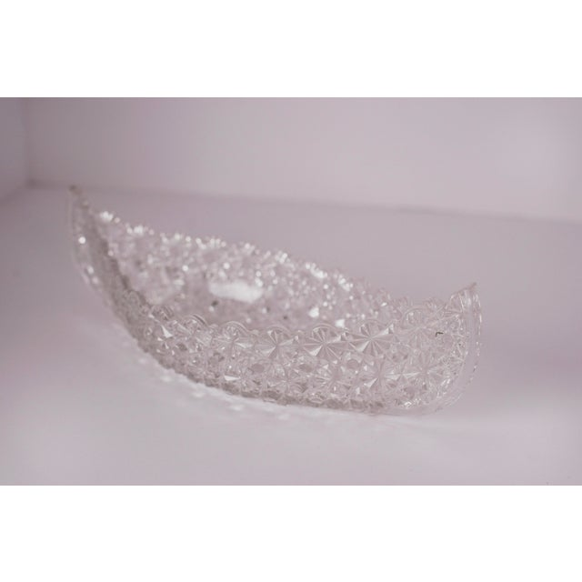 Unusual and cool, this vintage cut-glass accessory, shaped like a canoe, was purchased in the 80's by designer Barry...