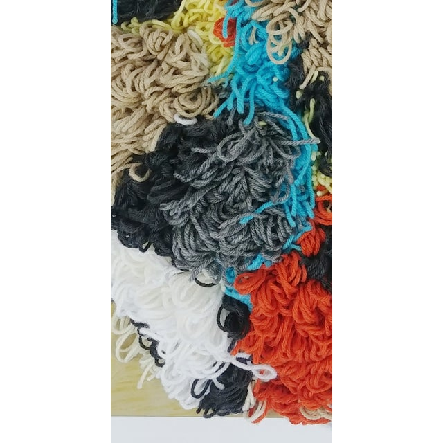 Contemporary Multicolor Fiber Tapestry For Sale - Image 4 of 6