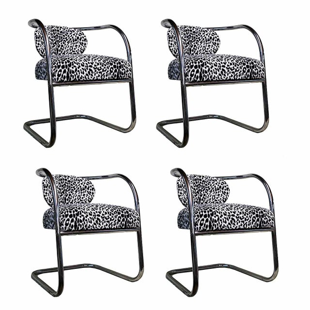 Art Deco Chrome Chairs - Set of 4 - Image 1 of 3