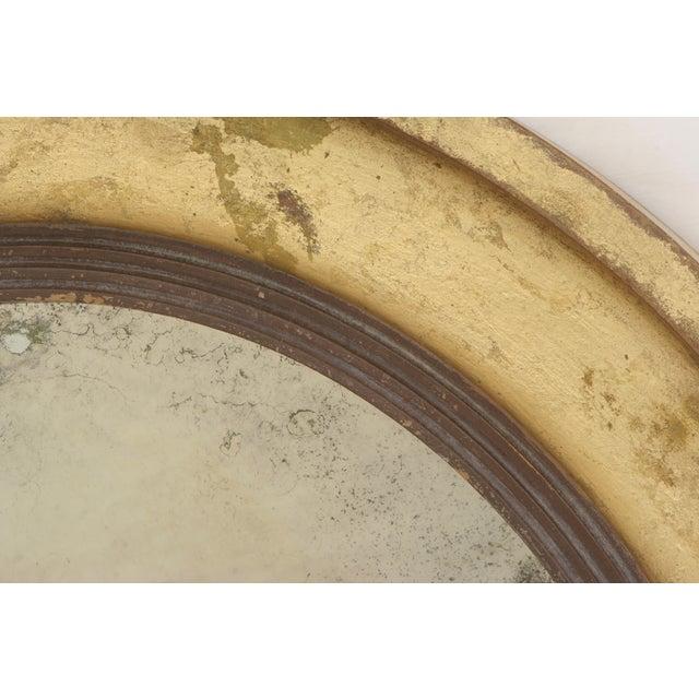 Suzanne Bonham Round Gilded Antiqued Mirror - Image 6 of 6
