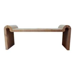 Karl Springer Goatskin Parchment Bench For Sale