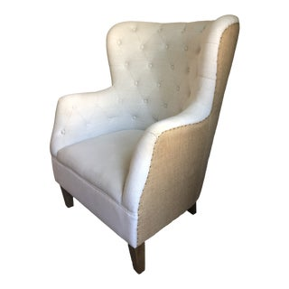 Tufted Arm Chair For Sale