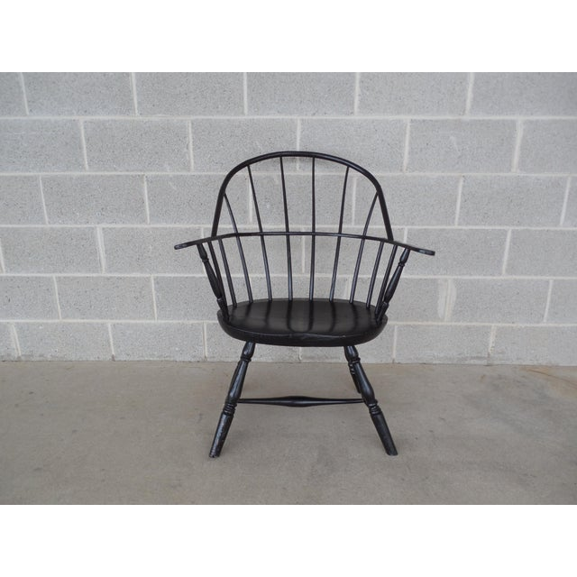 Farmhouse Antique Hoop Back Windsor Armchair For Sale - Image 3 of 10