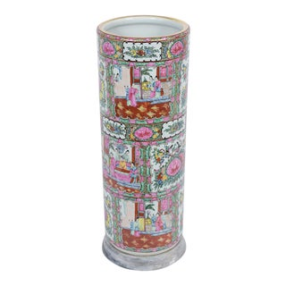 Chinese Porcelain Umbrella Stand For Sale