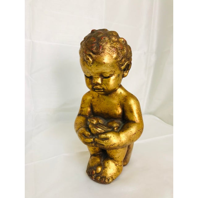 1960s Vintage Venetian Style Chalkware Child Figurine For Sale - Image 10 of 10