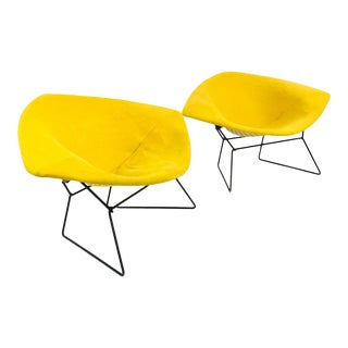 Pair of Large Diamond Chairs by Harry Bertoia for Knoll For Sale