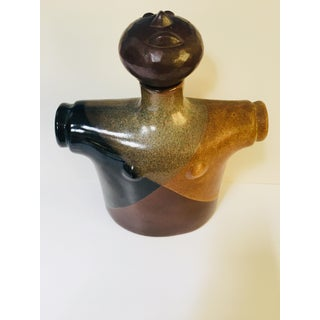 Robert Maxwell Mid-Century Modern Abstract Face Pottery Decanter Stopper Preview