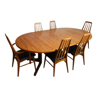 Mid-Century Modern Danish Koefoed Eva Dining Set- 7 Pieces For Sale