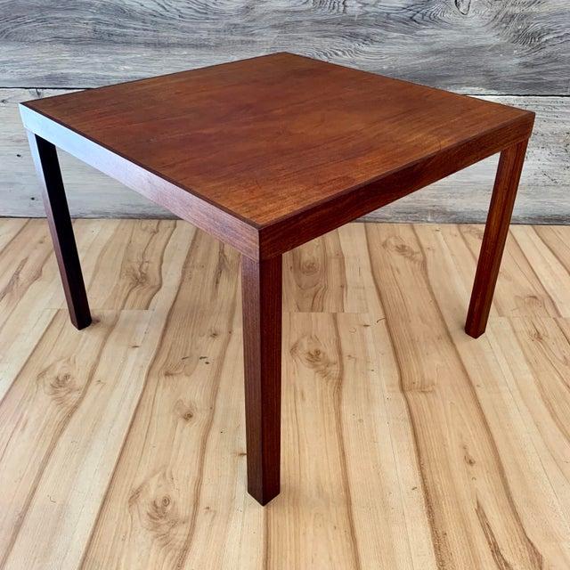 Hans Olsen 1960s Danish Modern Hans Olsen Teak Side Tables - a Pair For Sale - Image 4 of 11