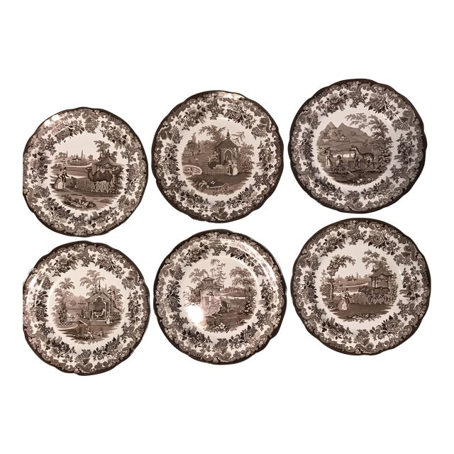 The Spode Archive Collection Plates - Set of 6 For Sale