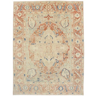 Muted Colors Contemporary Turkish Oushak Rug - 10'1 x 13'6