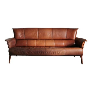 """1990s Pacific Green Furniture """"Navajo"""" Distressed Leather Sofa For Sale"""