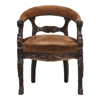 Antique French Desk Chair, Circa Late 1800s For Sale