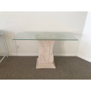 1980s Art Deco Foyer Glass Top Table Preview