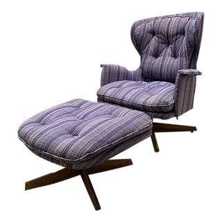 Mid Century Modern Lounger & Ottoman by G-Plan For Sale