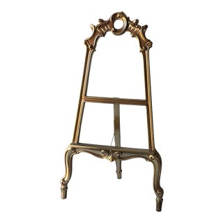 Rococo Large Gilded Easel For Sale