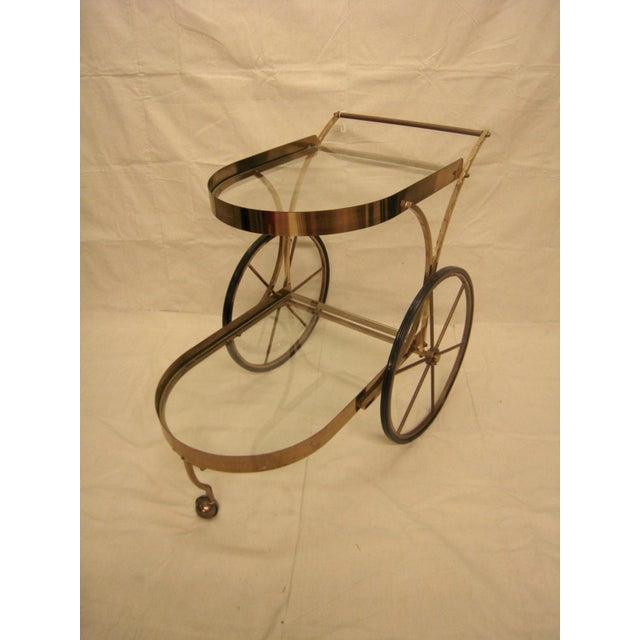 Deco Brass Bar Cart - Image 2 of 10