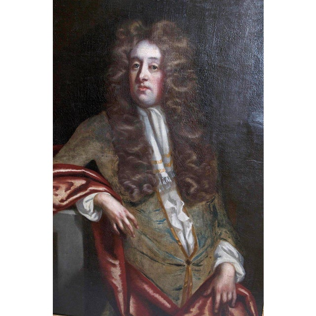 18th Century Oil on Canvas Portrait of an English Gentleman For Sale - Image 10 of 13