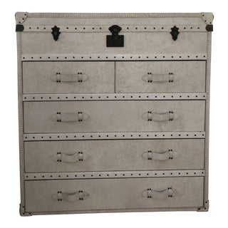 Contemporary Timothy Oulton Uoo White Leather Standard Dresser For Sale