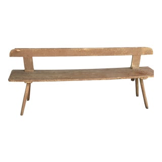 Late 1800's Belgium Hall Bench For Sale